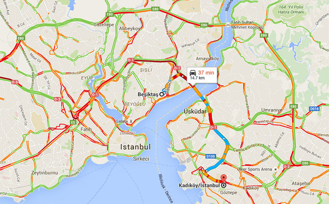 Google Maps Now Shows Traffic Information Predicts Travel