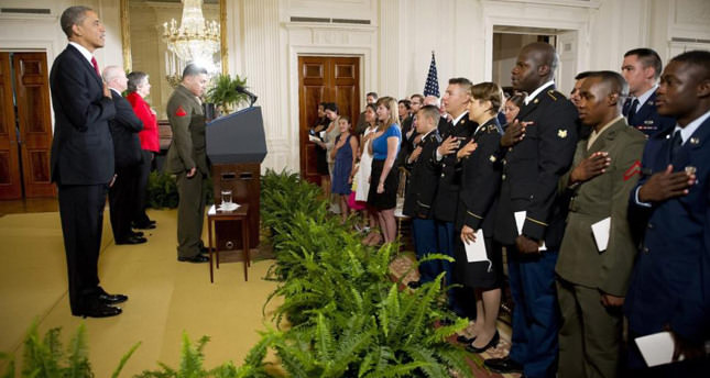 Immigration in America's DNA, military members sworn in as citizens