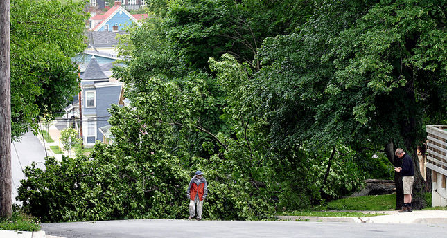 Arthur hits eastern Canada, causes power outages