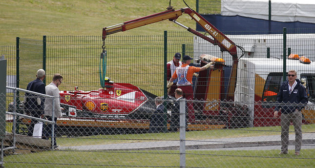 Raikkonen's huge first-lap crash halts F1 British Grand Prix