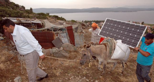 Solar panels on donkeys come to shepherds' rescue