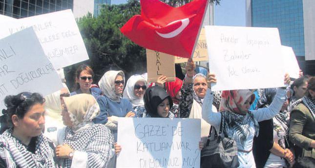 Turkish women protest Israel, Israeli lawmaker
