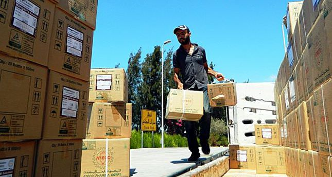 Turkish Red Crescent delivers med. aid to Gaza