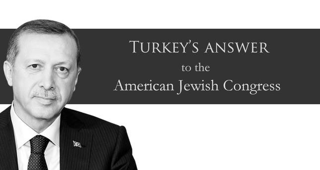 Turkey replies to American Jewish Congress for demanded award