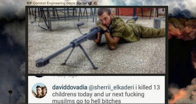 Israeli sniper admits to murdering 13 Gazan children on Instagram