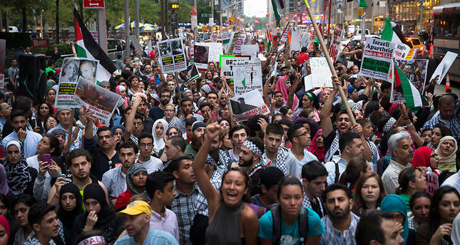 New Yorkers protest against Gaza massacre