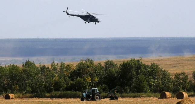 Russian helicopter kills 4 border guards