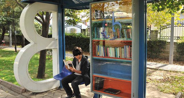 Bus stop libraries to end commuters' tedium