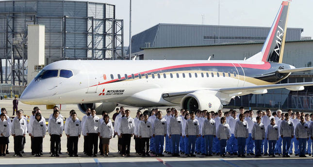 First Japanese passenger jet in four decades rolling out