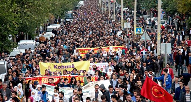 Fears over Kobani demonstrations turn out to be unfounded as they end in peace