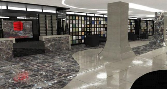 Marble of Turkey exhibited in stone library