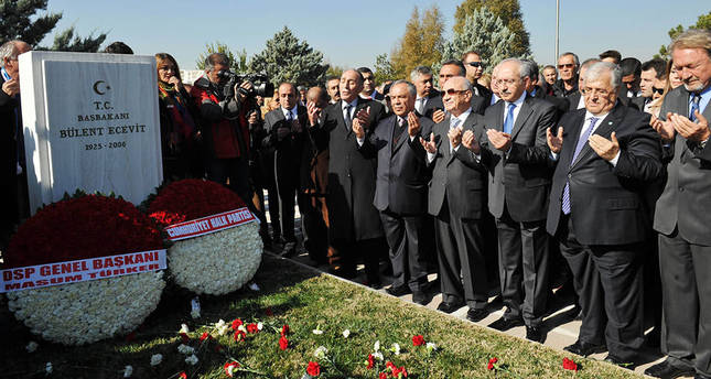 Former PM Ecevit commemorated, with joint CHP-DSP ceremony for the first time