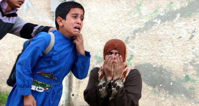 Assad regime drops mortar on school in Damascus, 13 children dead