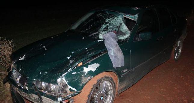 Driver flees with severed leg of crash victim