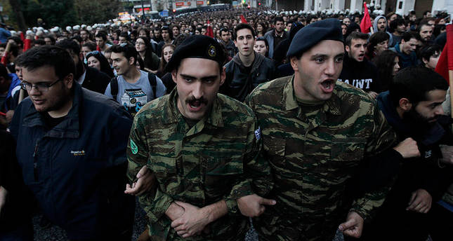 Protesters clash with Greek riot police in 1973 uprising commemoration