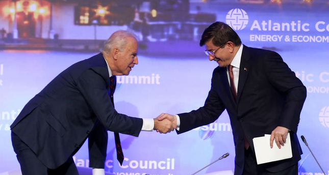 Biden and Davutoğlu emphasize importance of energy security