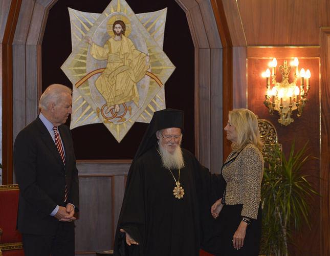 Biden holds talks with Patriarch Bartholomew before heading to Washington