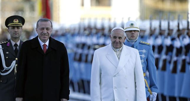 Turkey calls Pope to champion against Islamophobia, pontiff aims at Christian unity