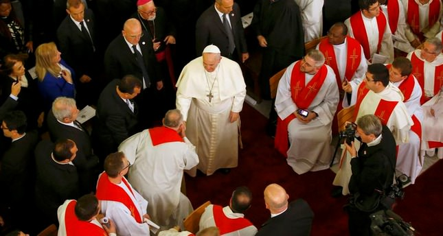 Pope Francis leads Mass in Turkish Cathedral