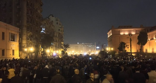 Egyptians protest dropping of charges against Mubarak in Tahrir Square