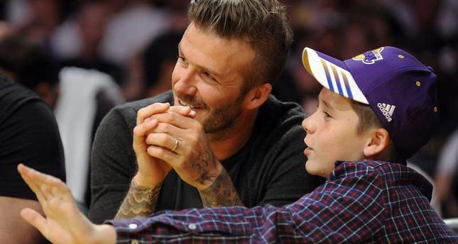 Soccer star David Beckham and son involved in car crash