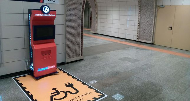 Battery charging units for wheelchairs to be in Istanbul Metro Stations
