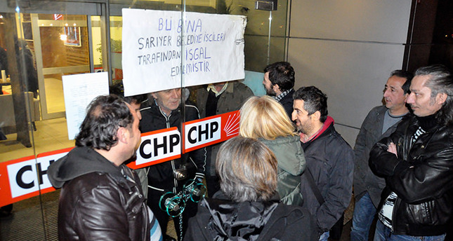 Workers protesting dismissal occupy CHP offices