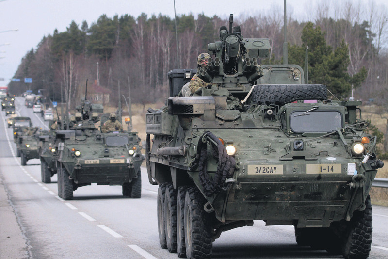 U.S. troops in the Baltics to show readiness against Russia.