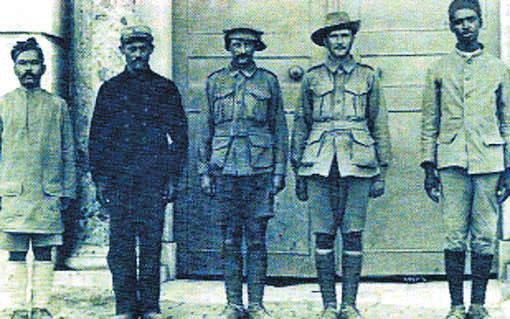 Anzac soldiers who were taken prisoner during Gallipoli War.