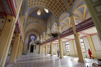 Workers put the final touches during the restoration of the Great Synagogue in Edirne, western Turkey, February 26, 2015 (Reuters Photo)