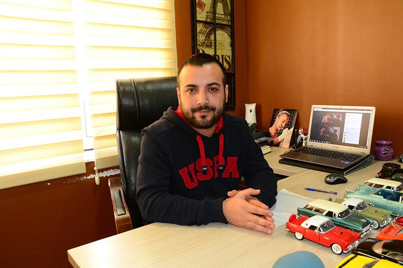 Hasan Bozal, owner of Tattoo Studio (IHA Photo)