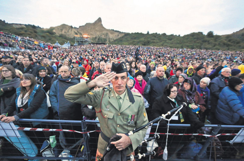 People attend the Dawn Service ceremony at the Anzac Cove commemorative site, in Gallipoli peninsula, Turkey on April 25, 2015.The Battle of Gallipoli was commemorated across the world, including Melbourne, New York and Wellington.