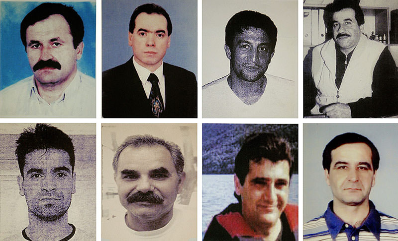 Portraits of eight murder victims (DPA Photo)