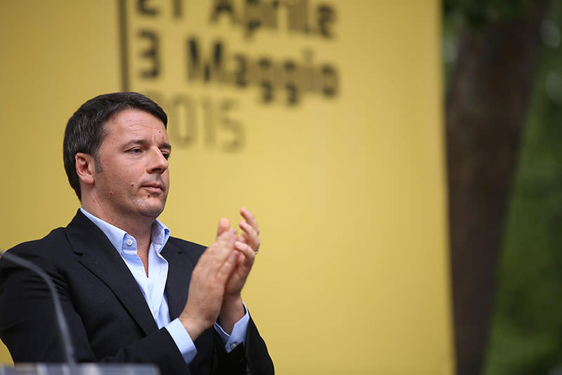 Italian Prime Minister Matteo Renzi delivers a speech during for an event of his party Partito Democratico (PD, Democratic Party) in Bologna, Italy, 03 May 2015 (EPA Photo)