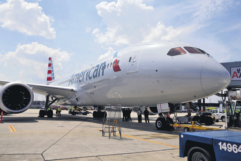American Airlines' first Boeing 787 Dreamliner prepares to depart Chicago's O'Hare International Airport. American joins United as the only U.S. airline using the plane, which the airline hopes will appeal to passengers.