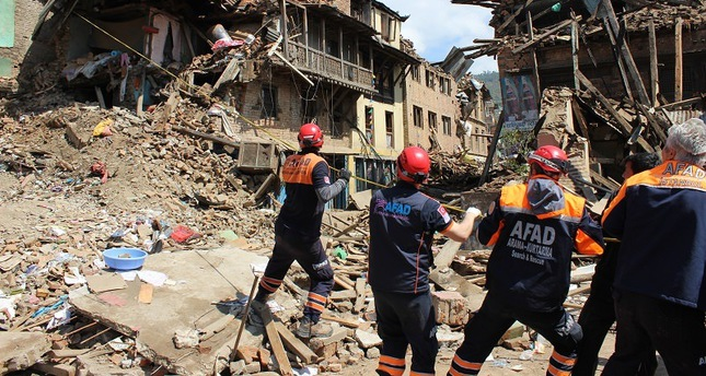 AFAD's rescue team works in Nepal on April 27, 2015 (AA Photo)