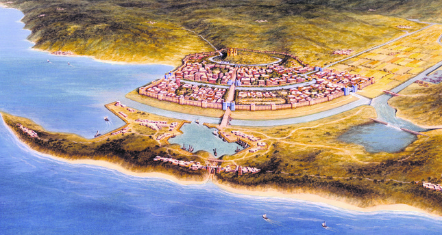 According to Zangger, a settlement existed between the Hittites in central Anatolia and the Mycenaeans in Greece. He claims that this settlement belonged to the Luwian civilization.