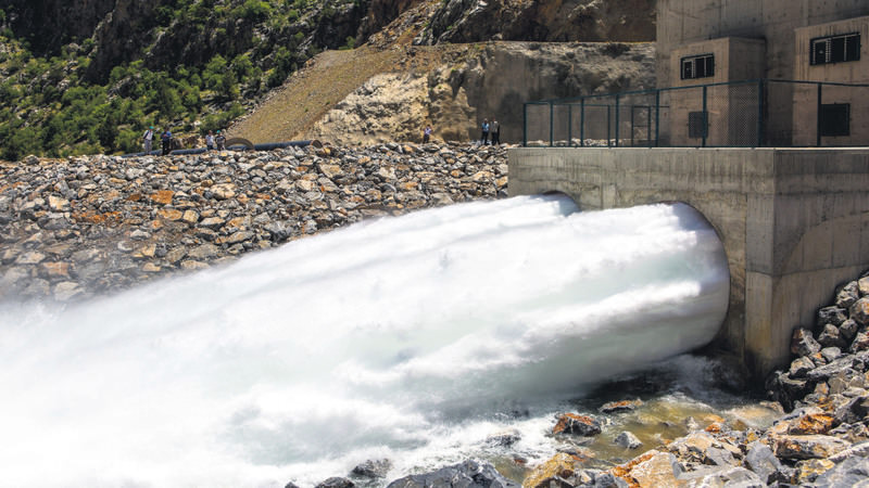 Water roaring through the tunnels that will provide irrigation for the immense agricultural lands in Konya.