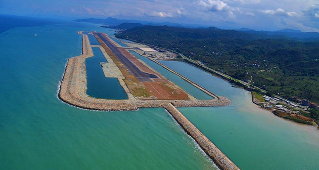 Europe's first airport built on an artificial island situated between the northern Turkish provinces of Ordu and Giresun is the eighth airport in the world. IHA Photo