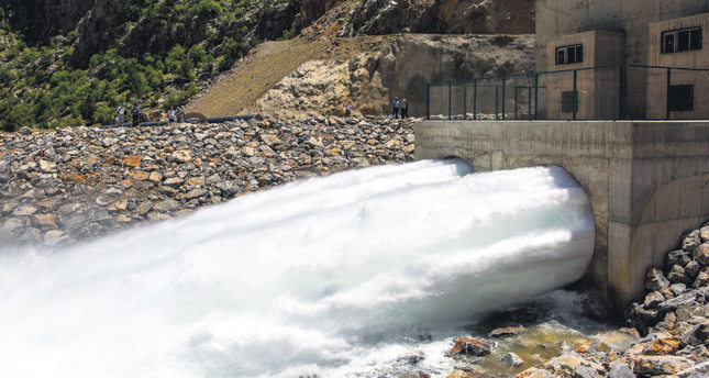 Water roaring through the tunnels that will provide irrigation for the immense agricultural lands in Konya. (AA Photo)