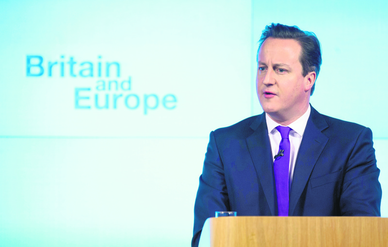 David Cameron, who is known for his skeptical stance toward the EU is eagerly supporting the referendum.