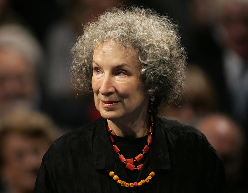 In this Oct. 24, 2008 file photo, Canadian writer Margaret Atwood arrives for the 2008 Prince of Asturias award ceremony in Oviedo, northern Spain (AP Photo)