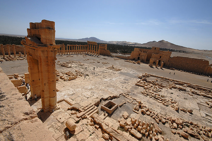 A general view of the Temple of Bel in the historical city of Palmyra April 18, 2008 (Reuters Photo)