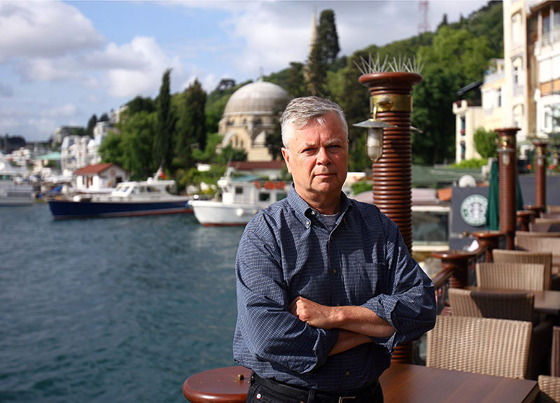 May 18, 2012 file photo of Stephen Kinzer, former New York Times journalist, in Istanbul, Turkey (AP Photo)