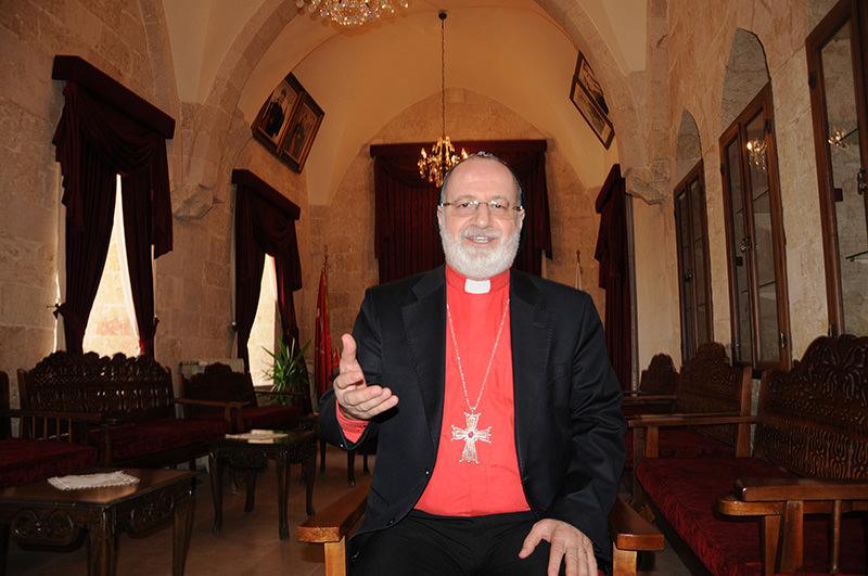 Saliba u00d6zmen, Metropolitan of the Mardin and Diyarbaku0131r provinces for the Assyrian Orthodox Church (AA Photo)