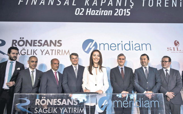Kayaalp, chairwoman of Rönesans Holding, signs the finance agreement of Yozgat city hospital. The hospital will be financed by four foreign banks with an amount of 111 million euros.