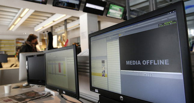 Computer screens are pictured at TV5 Monde after the French television network was hacked by people claiming allegiance to ISIS, in Paris, France, Thursday April 9, 2015 (AP Photo)