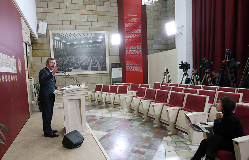 u0130dris Bal was mocked on social media for addressing an empty press conference at the Turkish Parliament