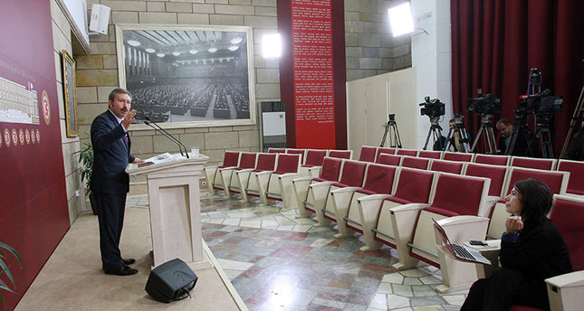 İdris Bal was mocked on social media for addressing an empty press conference at the Turkish Parliament