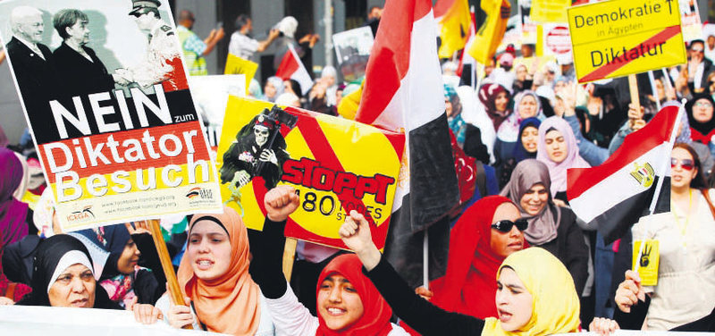 Egyptian President Abdel-Fattah el Sissi's two-day visit to Germany led to growing official and public protests.